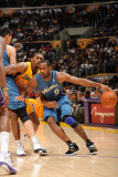 Washington Wizards v Los Angeles Lakers: Gilbert Arenas and Ron Artest
