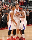 San Antonio Spurs v Los Angeles Clippers: Eric Gordon  Blake Griffin and Baron Davis