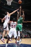 Boston Celtics v Atlanta Hawks: Marquis Daniels and Zaza Pachulia