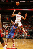 Detroit Pistons v Miami Heat: Eddie House and Ben Gordon