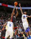 Miami Heat v Golden State Warriors: Lebron James and Dorell Wright