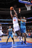 New Orleans Hornets v Philadelphia 76ers: Elton Brand and David West
