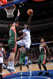 Milwaukee Bucks v Philadelphia 76ers: Jrue Holiday and Andrew Bogut