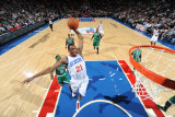 Boston Celtics v Philadelphia 76ers: Thaddeus Young and Marquis Daniels