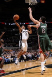 Milwaukee Bucks v San Antonio Spurs: George Hill and Andrew Bogut