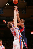 Atlanta Hawks v New York Knicks: TImofey Mozgov and Al Horford