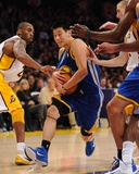 Golden State Warriors v Los Angeles Lakers: Jeremy Lin and Kobe Bryant