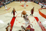 Cleveland Cavaliers v Houston Rockets: Antawn Jamison and Luis Scola