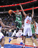 Boston Celtics v Philadelphia 76ers: Rajon Rondo and Thaddeus Young
