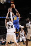 Golden State Warriors v San Antonio Spurs: Monta Ellis and Tiago Splitter