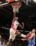 Oklahoma City Thunder v Toronto Raptors: AmirJohnson and NenadKristic