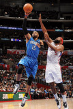 Orlando Magic v Los Angeles Clippers: Vince Carter and Baron Davis