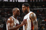 Miami Heat v Cleveland Cavaliers: Dwyane Wade and LeBron James