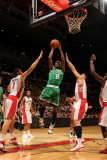 Boston Celtics v Toronto Raptors: Marquis Daniels andrea Bargnani and Linas Kleiza