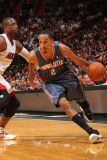 Charlotte Bobcats v Miami Heat: Shaun Livingston and Dwyane Wade