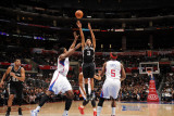 San Antonio Spurs v Los Angeles Clippers: George Hill  DeAndre Jordan and Baron Davis