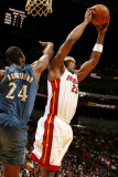 Washington Wizards v Miami Heat: Erick Dampier and Hilton Armstrong