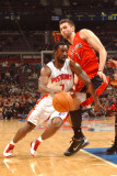 Toronto Raptors v Detroit Pistons: Ben Gordon and Andrea Bargnani