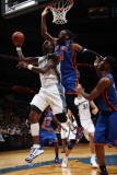 New York Knicks v Washington Wizards: Andray Blatche and Ronny Turiaf