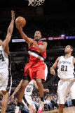 Portland Trail Blazers v San Antonio Spurs: Marcus Camby  Tim Duncan and Richard Jefferson