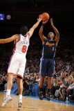 Denver Nuggets v New York Knicks: Chauncey Billups and Landry Fields