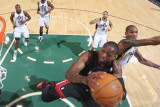 Miami Heat v Utah Jazz: Dwyane Wade and Raja Bell