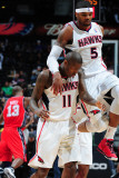 New Jersey Nets v Atlanta Hawks: Josh Smith and Jamal Crawford