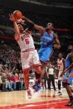 Oklahoma City Thunder v Chicago Bulls: Carlos Boozer and Serge Ibaka