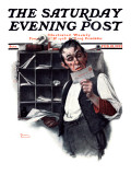 """Sorting the Mail"" Saturday Evening Post Cover  February 18 1922"
