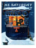&quot;Newsstand in the Snow&quot; Saturday Evening Post Cover  December 20 1941