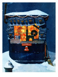 """Newsstand in the Snow""  December 20 1941"