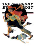 """To the Rescue"" Saturday Evening Post Cover  March 28 1931"