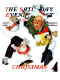 """""""White Christmas"""" Saturday Evening Post Cover  December 25 1937"""