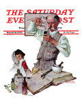 """""""Pharmacist"""" Saturday Evening Post Cover, March 18,1939 Giclée par Norman Rockwell"""