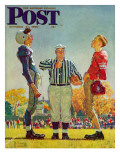 &quot;Coin Toss&quot; Saturday Evening Post Cover  October 21 1950