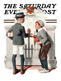 """Rivals"" Saturday Evening Post Cover  September 9 1922"