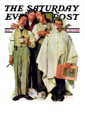 """Barbershop Quartet"" Saturday Evening Post Cover, September 26,1936 Giclée par Norman Rockwell"