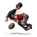 """Fumble"" or ""Tackled"", November 21,1925 Giclée par Norman Rockwell"