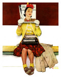 """""""Cover Girl"""", March 1,1941 Giclée par Norman Rockwell"""