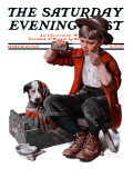 """Sick Puppy"" Saturday Evening Post Cover  March 10 1923"