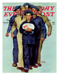 """Willie Gillis' Package from Home"" Saturday Evening Post Cover  October 4 1941"