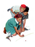 """Marble Champion"" or ""Marbles Champ"", September 2,1939 Giclée par Norman Rockwell"