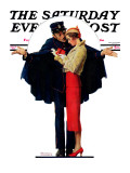 """Lost in Paris"" or ""Boulevard Haussmann"" Saturday Evening Post Cover  January 30 1932"