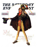"""Tiny Tim"" or ""God Bless Us Everyone"" Saturday Evening Post Cover  December 15 1934"
