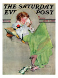 """Diary"" Saturday Evening Post Cover  June 17 1933"