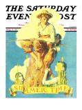 &quot;Summertime  1933&quot; Saturday Evening Post Cover  August 5 1933