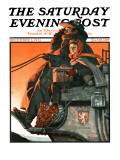 """London Coach"" Saturday Evening Post Cover  December 5 1925"