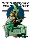 """Serenade"" Saturday Evening Post Cover  September 22 1928"