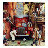 """Road Block"", July 9,1949 Giclée par Norman Rockwell"