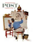 &quot;Triple Self-Portrait&quot; Saturday Evening Post Cover  February 13 1960